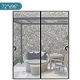 Magnetic Screen Door 72 x 96 inch, CHUSSTANG Heavy Duty French Door Mesh Curtain...