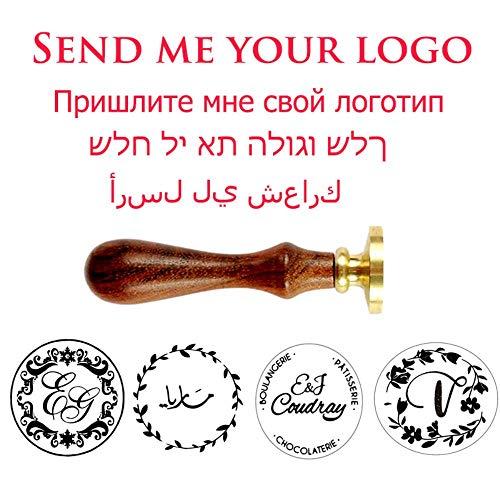 BTKNOO Personalisierte Wachssiegel Stempel/benutzerdefinierte Wachssiegel Stempel/Machen Sie Ihr eigenes Design und Logo Stempel, 25 mm mit Griff
