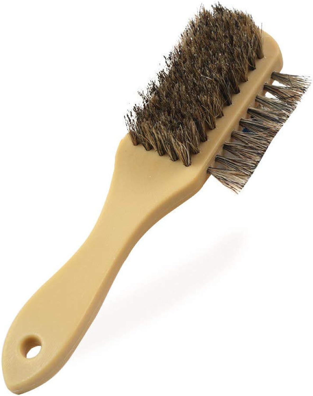 Myzixuan Weiche Wolle DREI mit dreiseitig Pinsel Öl Polieren Bürste Schuhcreme spezielle Reinigungsbürste Bürste Schuhreinigung B07KDB4CN4