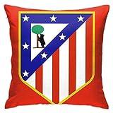 Babydo Pillowcase Atlético De Madrid Vs Valencia 45X45Cm Fundas De Cojines Decorativas Personalizadas con Cremallera Bonitas Fundas De Almohada Regalo Duradera Funda De Almohada Apta Par
