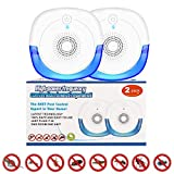JOKBEN Ultrasonic Pest Repeller 2 Pack Pest Control with 3-in-1 Frequency Conversion Efficient