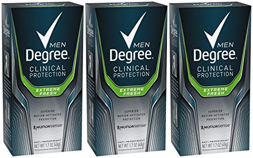 Degree Men Clinical & Antiperspirant & Deodorant, Extreme Fresh 1.7 Oz (Pack of 3), Original Version