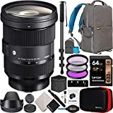 Sigma 24-70mm F2.8 DG DN Art Zoom Lens for Leica L Mount Mirrorless Cameras Bundle with Deco Gear Camera & Lens Photography Backpack + 64GB Memory Card + Filter Kit + 72' Monopod and Accessories