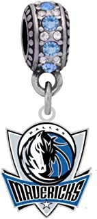 Final Touch Gifts Los Angeles Clippers Logo Charm Fits European Style Large Hole Bead Bracelets