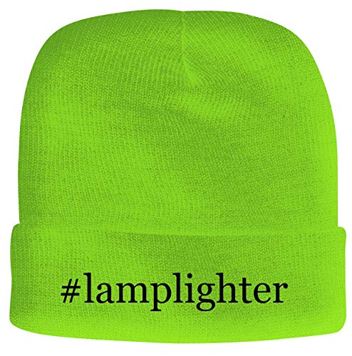 BH Cool Designs #Lamplighter - Men's Hashtag Soft & Comfortable Beanie Hat Cap, Neon Green, One Size