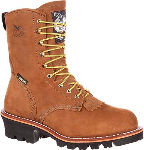 Georgia Boot Men's G9382 Logger Work Shoe, Worn Saddle, 9.5 M US