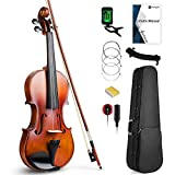 Vangoa Violín Acústico 4/4 Tamaño Completo Clásico Violin con Manual, Bolsa de...