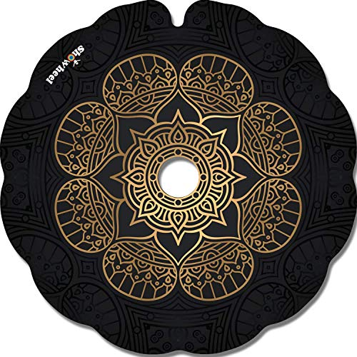 Cubre Radios Silla de Ruedas (Par) para Aro Impulsor 53,51 a 54,50cm de Diámetro Exterior con Fijaciones Redondas - Fleur dorée