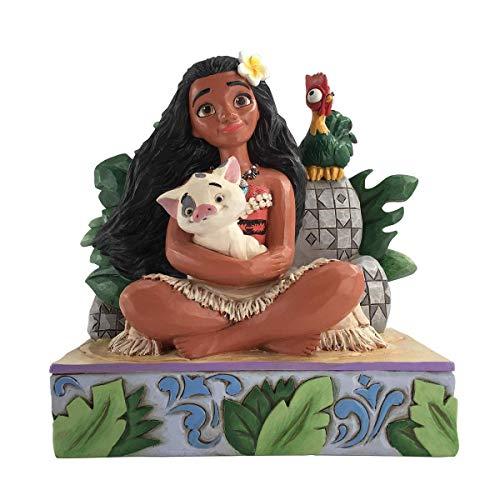 Jim Shore Disney Traditions Moana 'Willkommen in Motunui' Figurine, Multi, 8.5 x 13.9 x 13.8 cm, 6008078