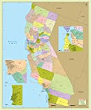 California County with Zip Code Map (48' W x 57' H)