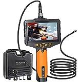 Teslong Doble lente, endoscopio con pantalla LCD de 4,3 pulgadas, cámara de detección de alta definición 720P, sonda flexible con diámetro de 8 mm (5 m)