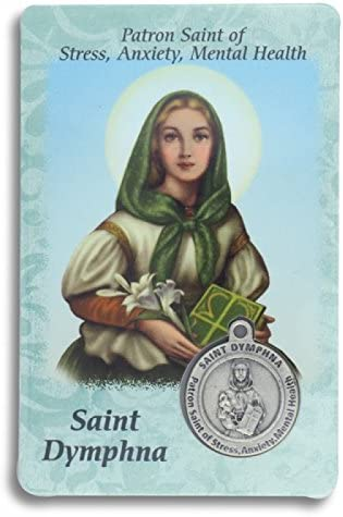 Saint St St Dymphna Prayer Card Holy Card Cards Patronage Patron Stress Anxiety Mental Health product image