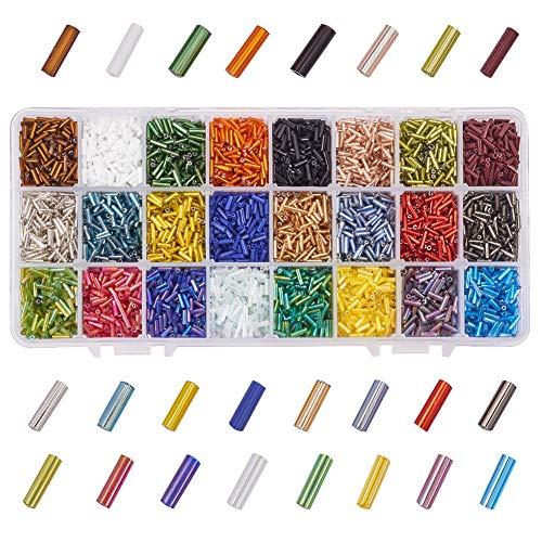 50 g 6 mm Verre Noir Twist Bugle seed beads Jewellery Making Craft UK