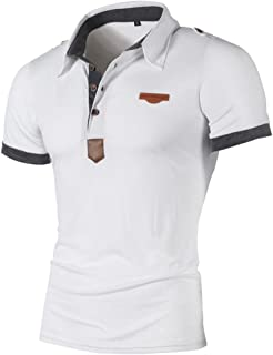 Fashion Short Sleeve T Shirt Personality Men's Casual Tops Slim Blouse Button Shirt Pullover