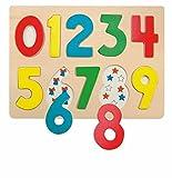 Hechos Juego de Puzzle Hacen Numeral número Madera Juego Juguetes de Madera Kinderland