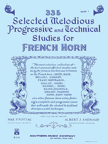 335 Selected Melodious Progressive Technical Studies for French Horn, Book 1