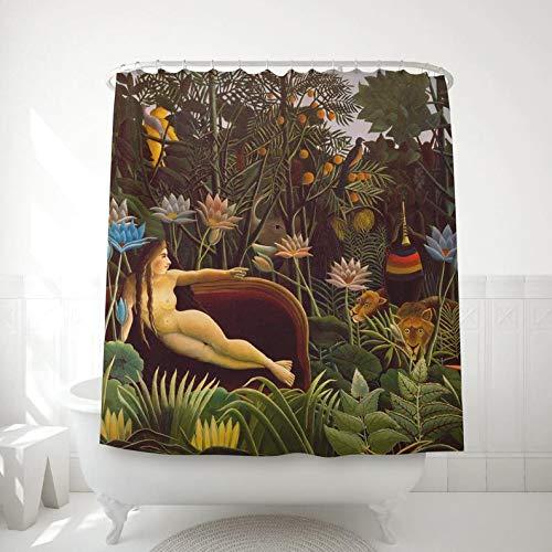 Myrwer2k Henri Rousseau Duschvorhang Der Traum gedruckt auf Duschstoff für Tropische Badezimmer Dekor