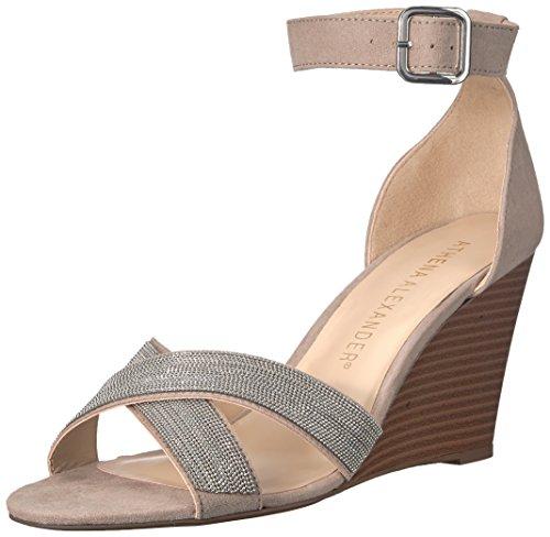 Athena Alexander Women's Zorra Wedge Sandal, TAUPE SUEDE, 5 M US