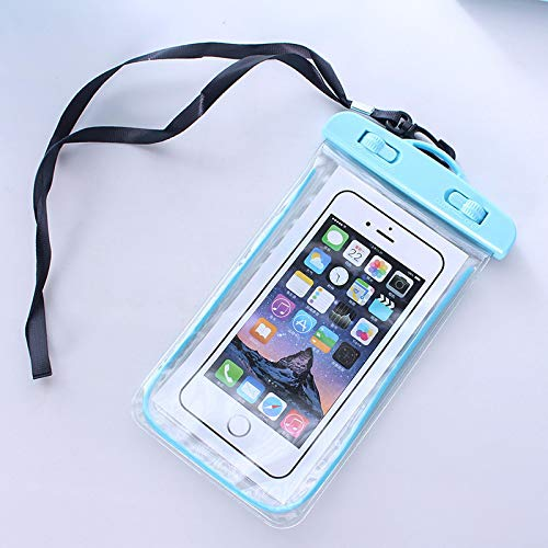 waterproof phone cases, luminous waterproof bag, fluorescent mobile phone waterproof case, mobile phone waterproof case suitable for outdoor swimming green