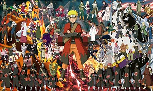 Spetich Das Ganze Naruto Menschen Puzzles 1000 Stück Holzpuzzle Erwachsene Spielzeug Angepasst Naruto Holzpuzzle-50 * 75Cm-1000 Stück