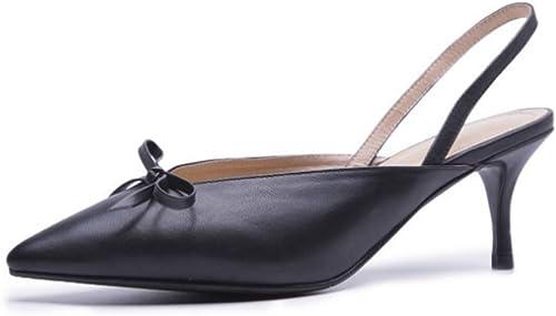 Sandales pour Femmes à Talon Aiguille et Chaussures à talon-noir-39