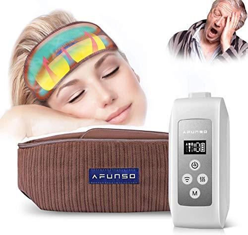Massaggiatore Testa e Cuoio Capelluto - Massaggiatori Elettrico Ricaricabile Massaggi per Alleviare il Mal di Testa, Design con Cuscinetto ad Aria Calda per un Relax Profondo, Migliorare Sonno