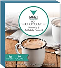 Medi-Weightloss Hot Chocolate with Fiber - High Protein Drink - Low Carb, Low Fat, for Diet/Weight Loss & Hunger Control, 15g of Protein Per Serving (Pack of 7) 6.1 OZ Total