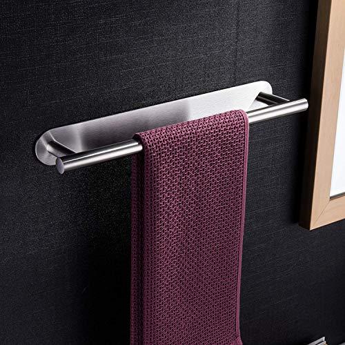 ZUNTO Porte-Serviettes Auto-Adhésif Porte Serviette Acier inoxydable 40cm pour salle de bain