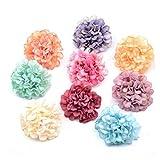 HETHYAN Flores artificiales de seda con cabeza de hortensias para decoración de boda, corona de bricolaje, álbumes de recortes, manualidades, 50 unidades por lote (color: mezcla)