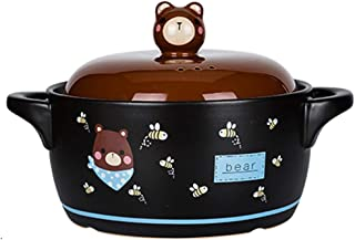 Casserole Clay Pot For Cooking High Temperature Resistant Cartoon Stew Pot With Lid Household Ceramic Casserole Domestic G...