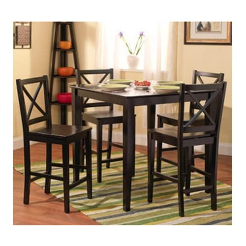 Amazon.com   5 Piece Counter Height Dining Room Set Dinette ...