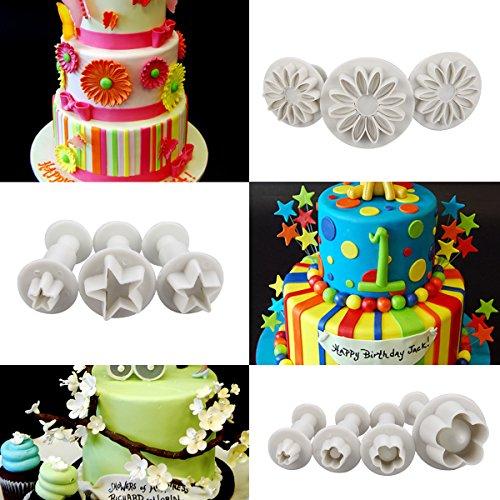 Cadrim Fondant Tools 109pcs Fondant Cutter Cake Decorating Kit Cake...