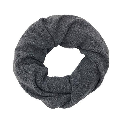 Collo, scialle, copricollo, scaldacollo, cachemire, merino – Unisex (Grigio Medio) (IM7C3GM)