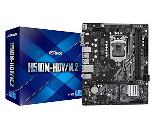 ASRock Intel 第10・11世代CPU(LGA1200)対応 H510 チップセット搭載 MicroATX マザーボード 【国内正規代理店品】 H510M-HDV/M.2