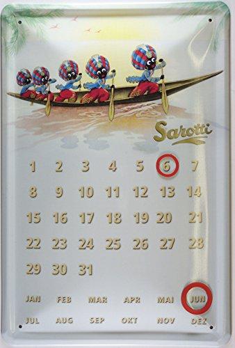 Blechschild Kalender Sarotti Boot