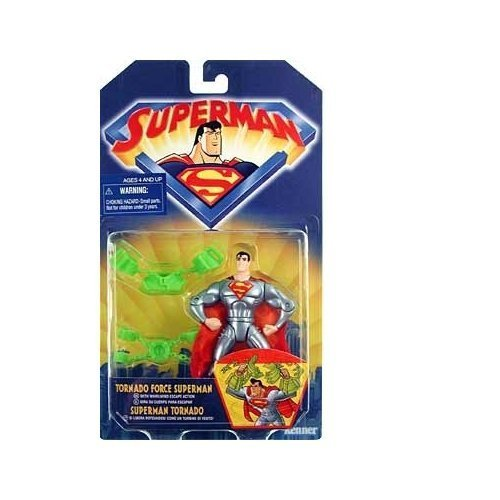 Superman the Animated Series Tornado Force Superman Action Figure