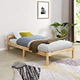 Cherry Tree <span class='highlight'>Furniture</span> Curran FSC-Certified Solid Wood Bed Frame (Natural, UK Single)