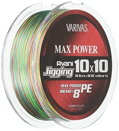 VARIVAS(バリバス) PEライン アバニ ジギング10×10 マックスパワーPE X8 200m 1.5号 28.6lb 8本 10色