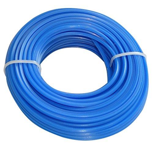 Aerzetix: Fil nylon profil carré 2.4mm 15m pour débroussailleuse désherbeuse C18554