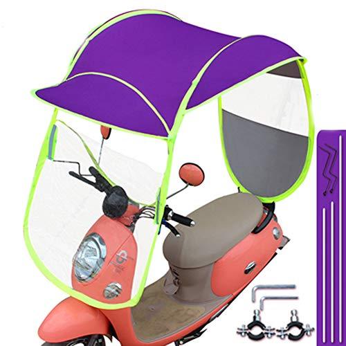 LYAID Car Mobility Sun Canopy, Moteur de Moto Pliable Parapluie Mobilité Pare-Soleil Pluie Pourpre Couverture imperméable,B