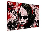 Cuadro con diseño de El Joker de Batman Dark Knight, estilo collage con frases famosas, lona madera, 9- A0 - 40' X 30' (101CM X 76CM)