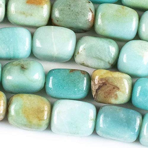 Cherry Blossom Beads Amazonite Beads 10x14mm Smooth Nugget - 8 Inch Strand