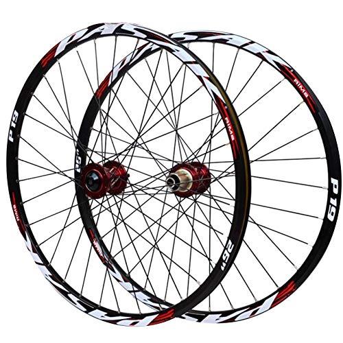 Llanta para Bicicleta de Montaña,Ruedas de Bicicleta 26/27.5/29in Freno de Disco Aleación...