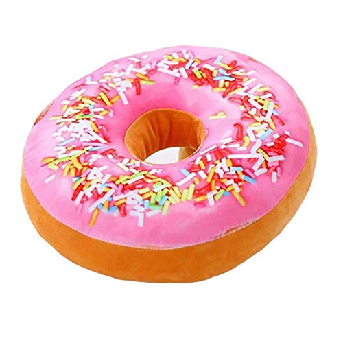 Plüsch-Spielzeug-Cheer Sammlung Runde Donut Kissen |Reversible Super Soft Donut Kissen - Schokolade Glasur, Regenbogen Streusel (Farbe: D) ZHNGHENG (Color : F)