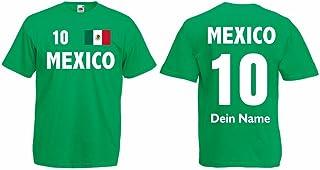 Mexico Herren T-Shirt mit Wunschname und Wunschnummer Trikot