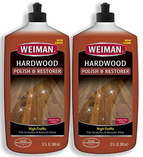 Weiman Wood Floor Polish and Restorer 32 Ounce (2 Pack) -...