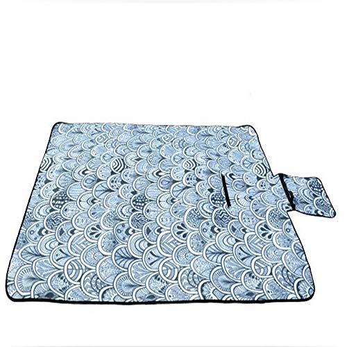 XGTsg Un Seul Côté Velvet Pique - Nique Pique - Nique Mat Mat Sac Pique - Nique Camping Mat Plage Imperméables Moistureproof Tapis Tapis 130 * 180 Cm