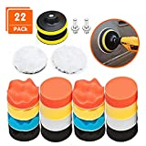 Polishing Pads for Drill, 22Pcs AOBETAK Car Buffers and Polishers Compound Sponge Drill Attachment Kit with...