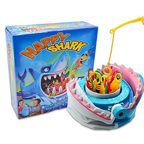 Kangmeile Hai-Spiel, Shark Brettspiel Trap Fishing Game Kreatives Sharks Tooth Biting Finger Party Desktop Tricky Game, Lass Uns vor dem Hai Angeln gehen, Safe Shark Toy Brettspiel für 2-4 Spieler