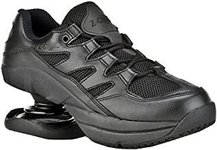 Z-CoiL Men's Freedom Slip Resistant Leather Tennis Shoe (Black, Numeric_9)